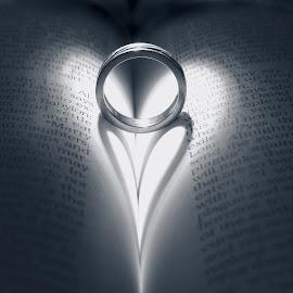 by Debbie Boettcher - Artistic Objects Jewelry ( love, wedding rings, marriage, light,  )