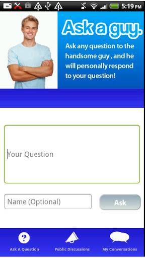 【免費娛樂App】Ask A Guy-APP點子