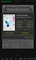Screenshot of HAMBURGER ABENDBLATT ePaper