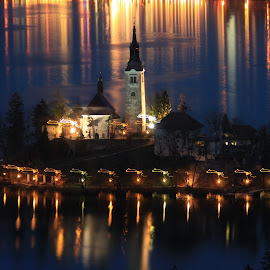 Mice Are Starting Their Evening Dance On Bled Island by Miro Zalokar - Buildings & Architecture Other Exteriors