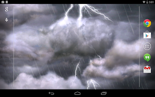 Screenshot of Thunderstorm Live Wallpaper