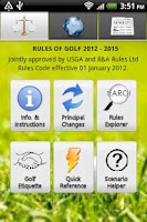 Screenshot of Golf Rules Pro 2012 - 2015