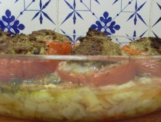tomates farcies mouton plat