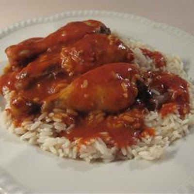 Dutch East Chicken Wings and Rice