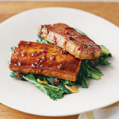 Glazed Tofu with Bok Choy