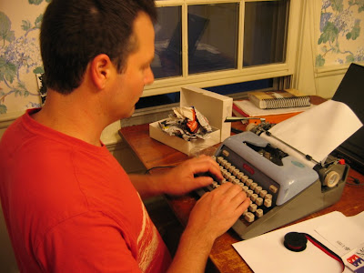 Colin fixes the Typewriter