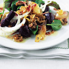 Warm Spinach, Shallot And Baby Beetroot Salad
