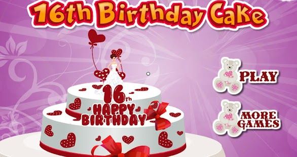16th birthday cake maker girls- screenshot thumbnail