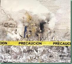 CULTURA/EXPOSICION XXIII PALMARES DIPLOMAT Primer lugar XXIII Palmares Diplomat obra Ciudad Sitiada de Jesus Ernesto Morales Cartagena, que se exibe en Maria Escalon Nunez, 16102008, Foto LPG Javier Aparicio  ------  4 col, full