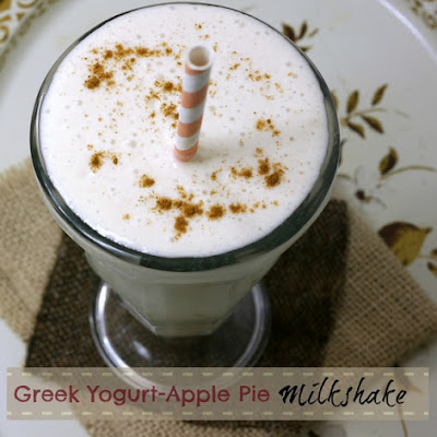 Greek Yogurt-Apple Pie Milkshake