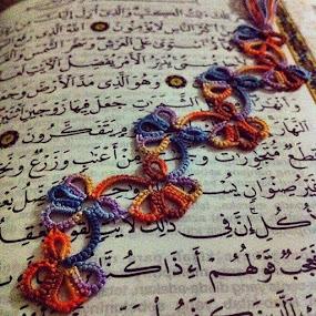 My tatted bookmark :) by Rozi Rahman - Instagram & Mobile iPhone ( madebyrozirahman, tatting, bookmark, craft, hdt, handdyed )