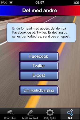 Varslingstjeneste for tungbil - screenshot