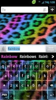 Screenshot of GO Keyboard Rainbow Cheetah