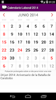 Screenshot of Calendario 2015 Venezuela NoAd