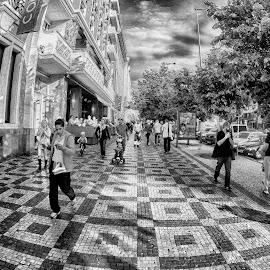 walk by Jelena Brankovic - City,  Street & Park  Street Scenes ( street, prague )