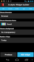 Screenshot of Analytix Widgets