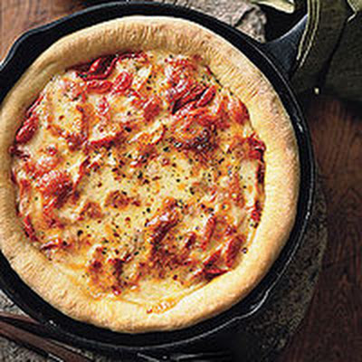 Tomato-and-Cheese Pizza
