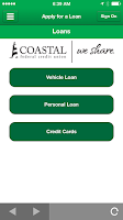 Screenshot of COASTAL Mobile Banking