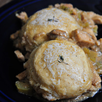 One Pan Chicken with Thyme Biscuits