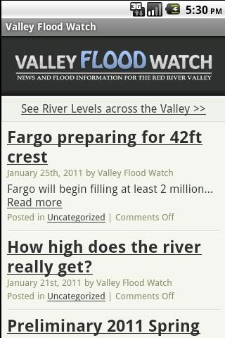 Valley Flood Watch