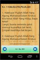 Screenshot of Kidung Jemaat