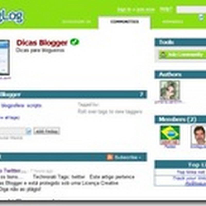 Divulgando seu blog