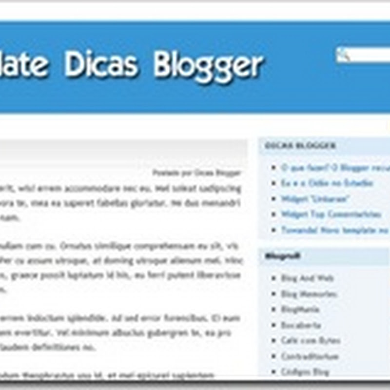 Template Dicas Blogger 1.0