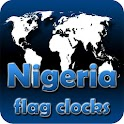 Nigeria flag clocks icon