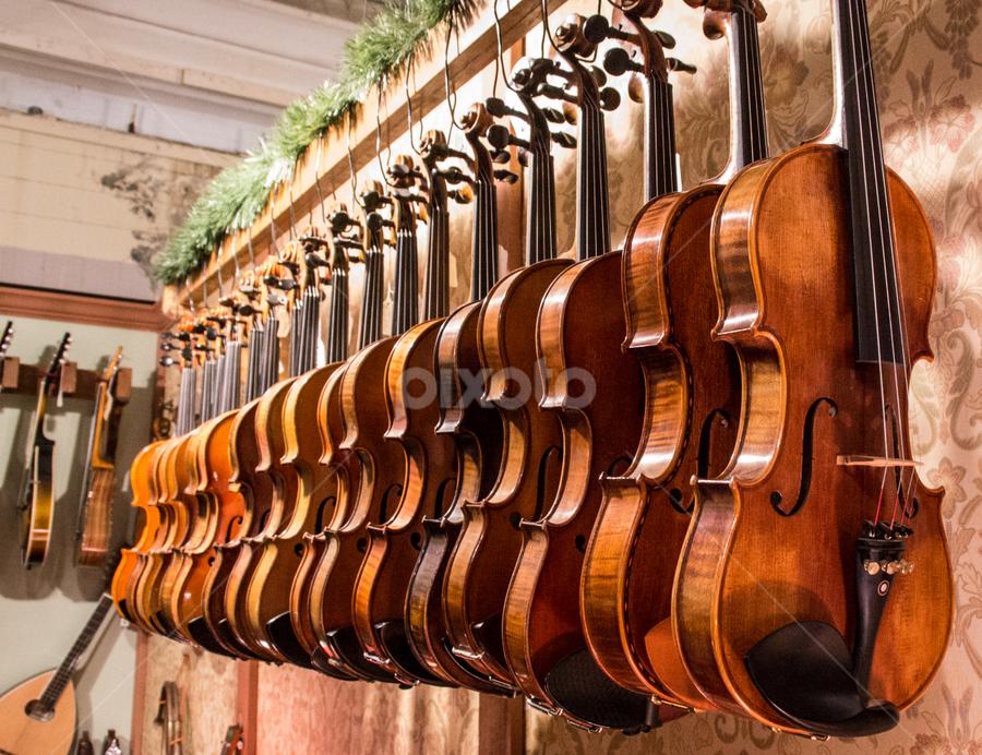 Needing Musicians by Ken Osborn - Artistic Objects Musical Instruments ( music, musical instrument, violin, creative, alignments, brown )