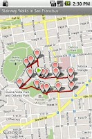 Screenshot of StairwayWalks in San Francisco