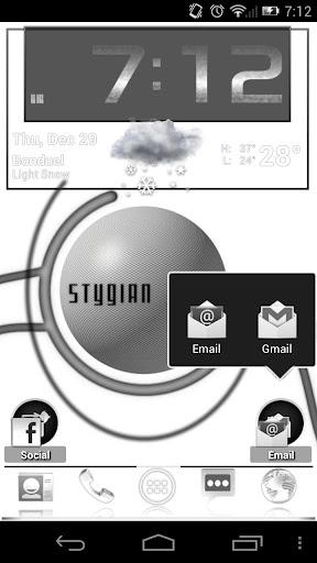 ADW theme StyGian Inverted Bl