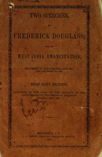 "<a href=""http://www.gilderlehrman.org/collections/be95e3f1-5838-4259-9498-535823134397"">Frederick Douglass</a>, former slave and noted abolitionist, denounced the Taney court in a May 1857 speech in New York. Douglass's speech was widely circulated as a pamplet."