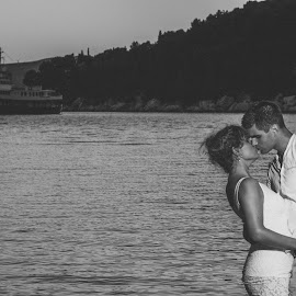 at sea by Antonio Miše - Wedding Bride & Groom ( vjenčanje, wedding, croatia, couple, dalmatia, mise, photography )