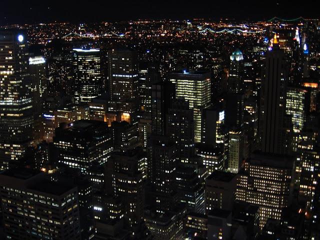 Vue de nuit du Top of the Rock