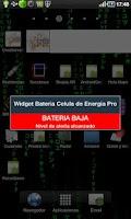 Screenshot of Battery Power Cell Widget Pro