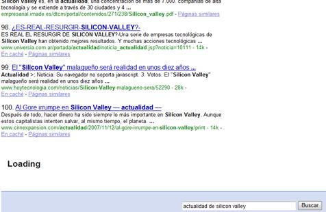 Scroll infinito Google
