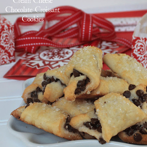 Cream Cheese Chocolate Croissant Cookies