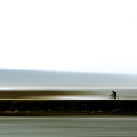 bikers by Sergio Martins - Digital Art People ( body board, bike, bikers, costa da caparica, portugal, surf )