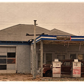 -------The Old Service Station------- by Neal Hatcher - Buildings & Architecture Other Exteriors