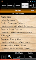Screenshot of Grocery Tracker Shopping List