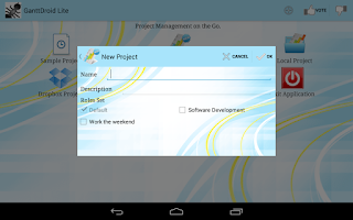 Screenshot of GanttDroid Lite