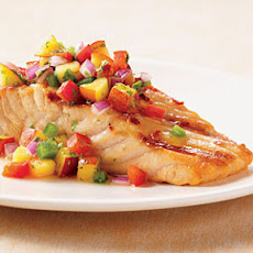 Salmon with Nectarine Salsa