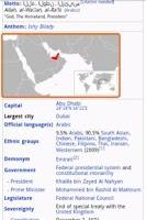 Screenshot of Quiz of Capital Cities