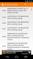 Screenshot of Dangerous Goods Manual