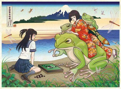 特大生物と女子高生を描くイラストレーター「撫子 凛」