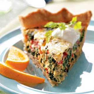 Spinach Swiss Quiche