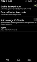 Screenshot of WeFi Pro for Cricket