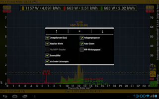 Screenshot of SolarAnalyzer Home f. Android™