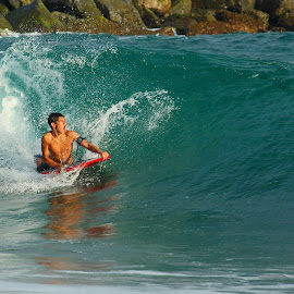 Boogie Board at the Wedge by Jeannine Jones - Sports & Fitness Watersports