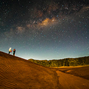 Milkyway above bromo by Andy R Effendi - Landscapes Starscapes ( milkyway, mountain, indonesia, stars, bromo )